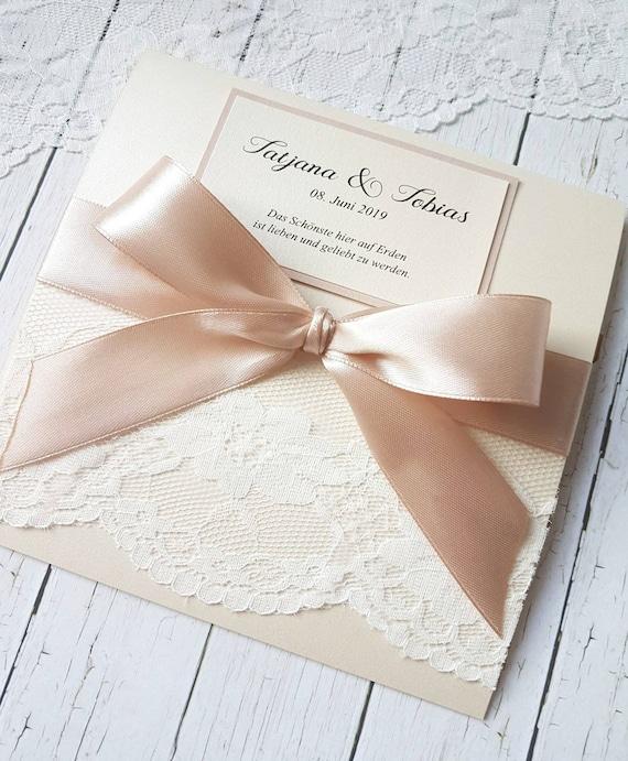 10x Hochzeitseinladungen Set Einladungen Zur Hochzeit Taufe Kommunion Konfirmation Weiß Schimmern Perlmutt Schliefe Zirkonia Glitzer