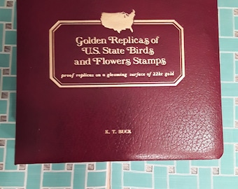 Golden Replicas of U.S. State Birds and Flowers Stamps 1982