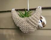 Sloth Plant Holder Sloth Planter Hanging Succulent Planter Crochet Sloth Sloth Plant Holder Birthday Gift Summer Air Plant