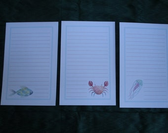 Ocean Animals Stationery Set