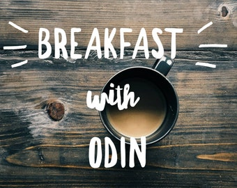 Breakfast with Odin, Beard Oil, Coffee and Vanilla Bean, High Quality, No Artificial Fragrance, No Added Essential Oils, No filler oils