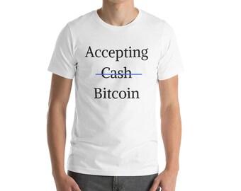 Accepting Bitcoin - Short-Sleeve Men's T-Shirt