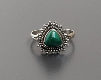 Natural Malachite RingMalachite Silver RingMalachite Stone RingHandmade Malachite RingStatement RingRing Size US 4-10