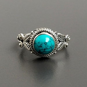 Turquoise Stone RingSterling Silver 92.5/% Stone RingSilver Turquoise RingHandmade Turquoise RingStatement RingRing Size US 4-10