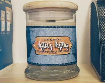 Jester's Pastries | 10 oz Wooden Wick and Lid Soy Candle