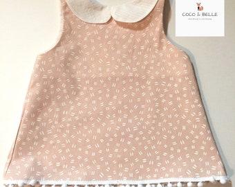 Sleeveless collar top