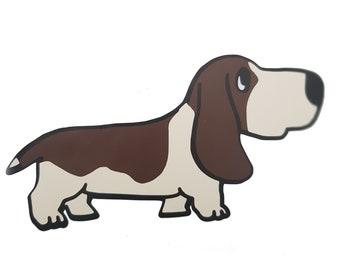 Basset Hound Dog Multicoloured Decal