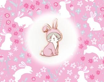 Kitty in Bunny Costume - Small Enamel Pin