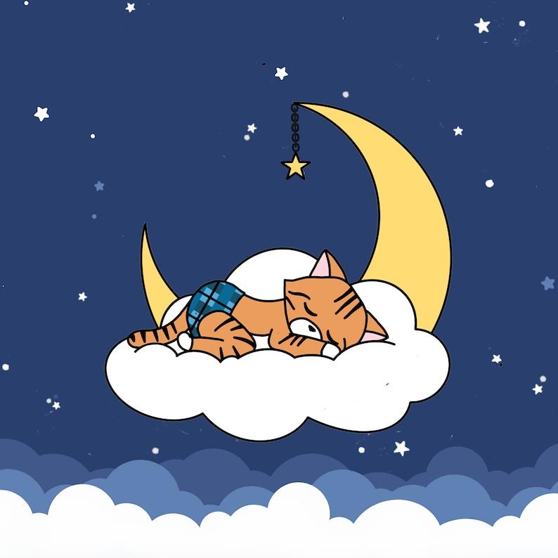 Reecie Enamel Pin  Sleeping Kitties Special Edition Charity image 1
