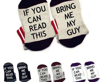 Wine Socks If You Can Read This please rub my feet Men Women cotton Socks W0016