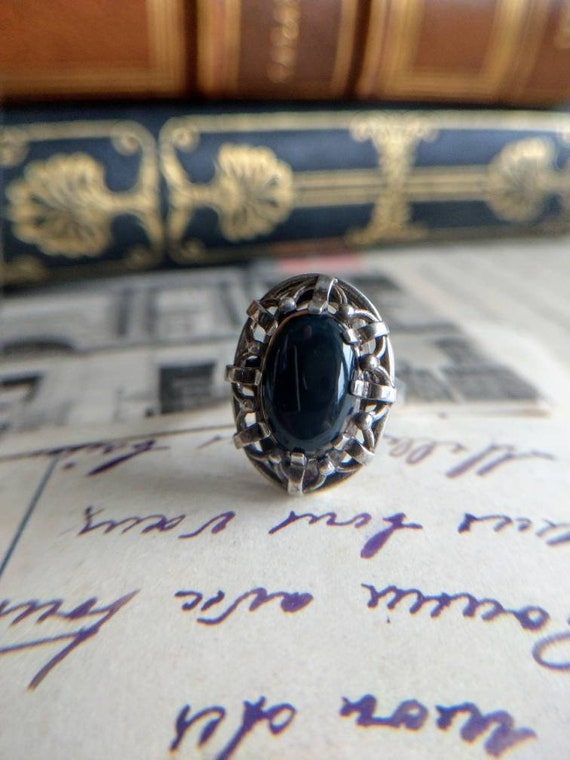 Antique Art Deco silver ring