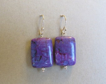 Oh Violet- Lightweight 14k solid yellow gold Turquoise earrings