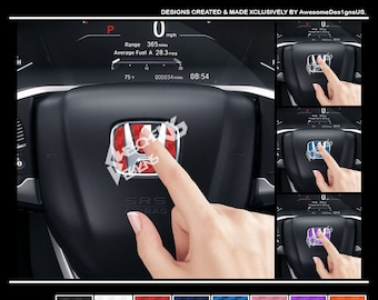 Honda Steering Wheel Carbon Fiber Inlay. 2006+ Honda Models.