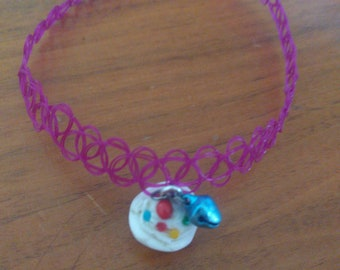 Choker with blue bell and cupcape