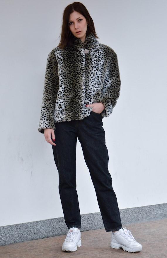 Short leopard vintage fake fur