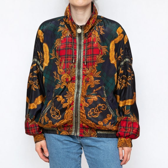 Versace Style 90s Vintage Shell Bomber Jacket