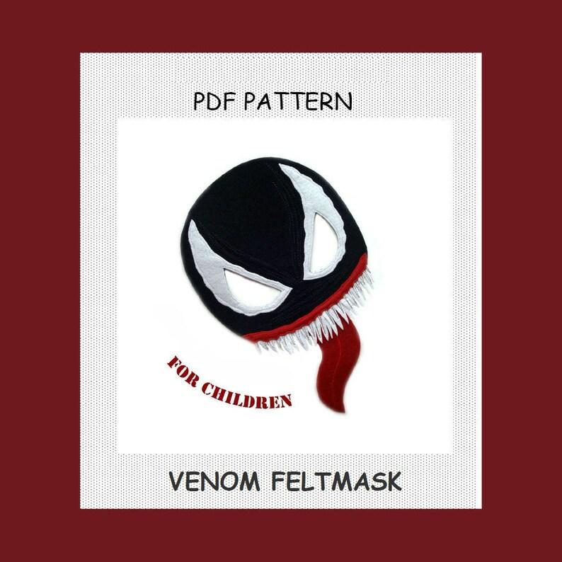 PDF PATTERN VENOM mask, Marvel, Venom Costume, Venom 2018 Movie, Venom  Cosplay, Super Hero, Halloween Mask, Venom party, Venom Birthday