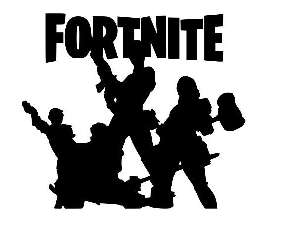 Fortnite With Characters Svg File Etsy