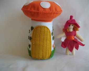 Felt Fairy and Toadstool