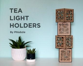 Wooden Tea Light Holder