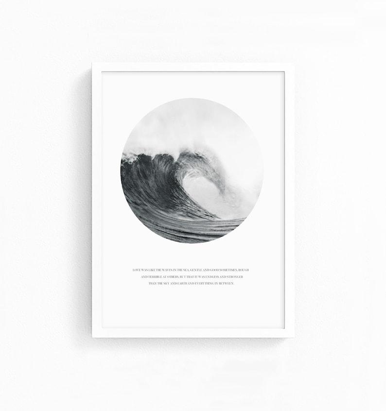 Ocean Print Black and White, Ocean Wave Print, Affiche Scandinave, Coastal  Prints, Digital Prints, Wall Art, Printable Art, Sea Wall Art