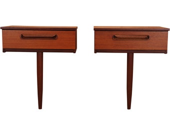 Pair of mid century Schreiber Floating Nightstands/Console Tables.