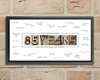 85th Birthday Gift Decorations 85 Years Old Gifts Ideas Sign