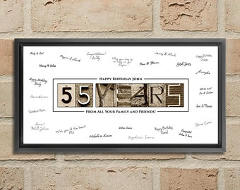 55th Birthday Decorations Gift 55 Year Old Ideas Poster