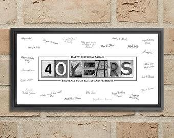 40th Birthday Decoration For Women Etsy