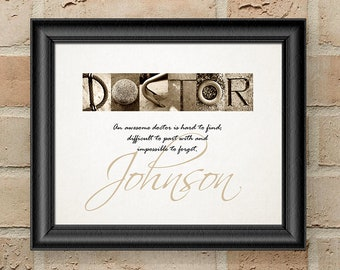 Personalized Doctor Gift, Gift for Doctor, Retirement Gift for Doctor, Doctor Gift, Physical Therapist Gifts, Gifts for Doctors, Doctor