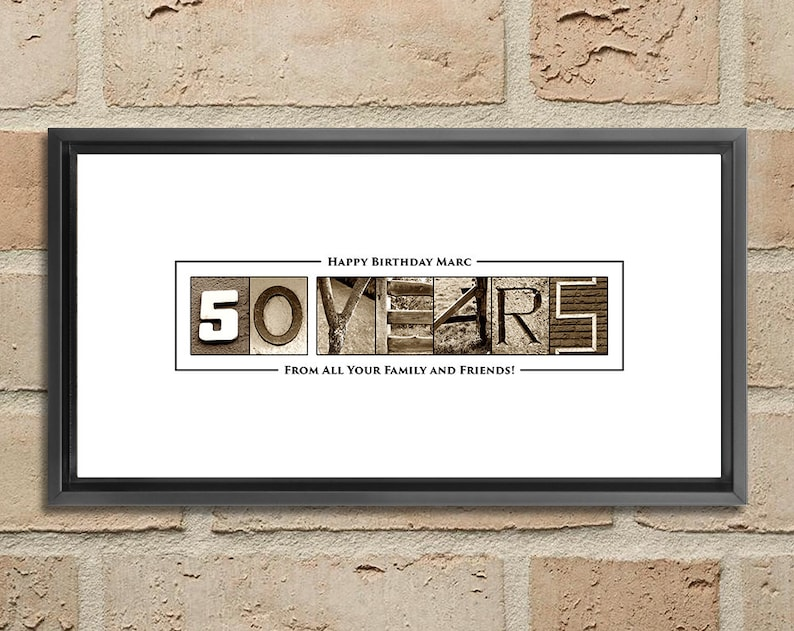 50th Birthday Gift For Men Decorations