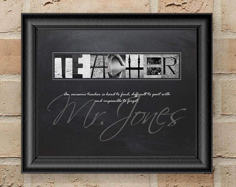 Lehrer Wertschätzung Geschenk personalisierte Lehrer Geschenke | Etsy