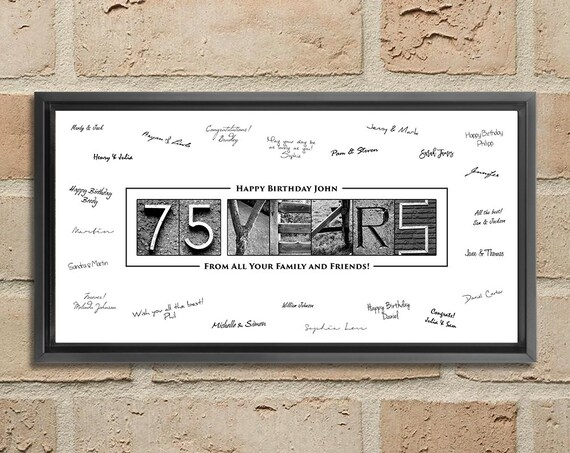 75th Birthday Gift 75th Birthday Decorations 75th Birthday 75 Year Old Birthday 75th Birthday Ideas 75 Birthday 75th Birthday Poster