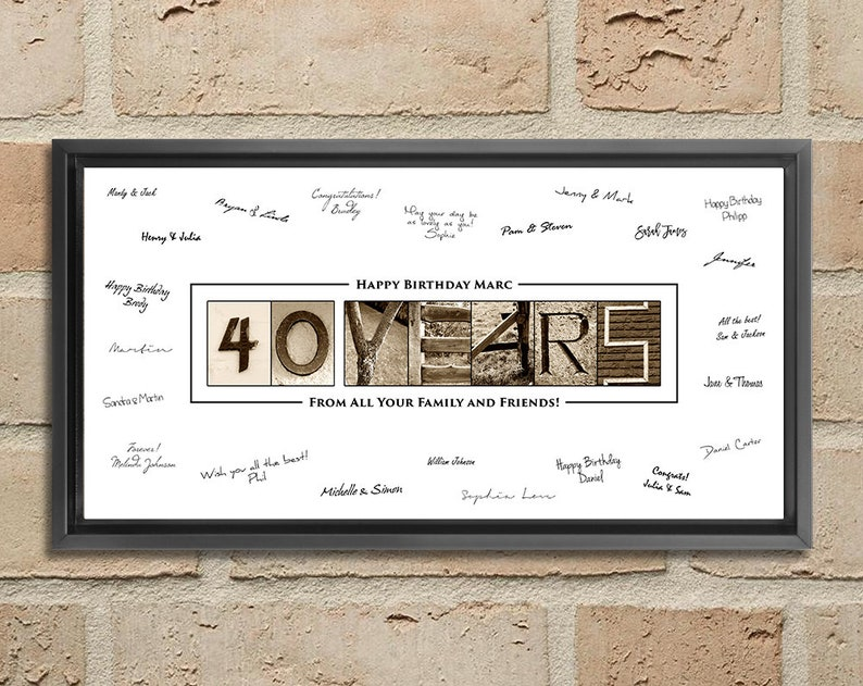 40th Birthday Gift For Men Decorations