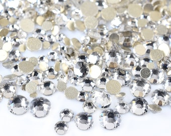 50 x loose beads acrylic plastic silver plated 8mm x 4mm ab colour rhinestones