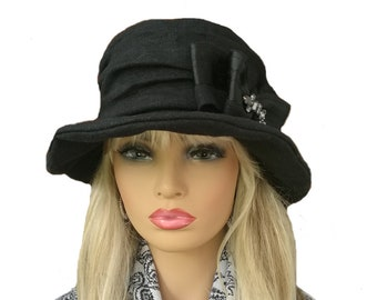 a011a8087a9 Ladies black hat