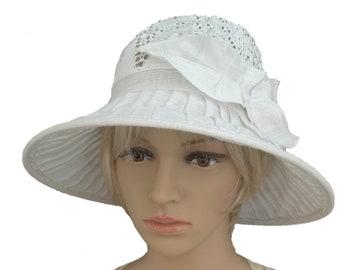 f9c02d341 Brimmed sun hat lady, Summer hat women, Lightweight sun hat, Women's summer  hat, White summer hat, Linen cotton hat, Organic cotton hat,
