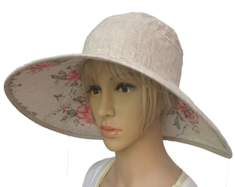 31319476cff18 Large brim hat lady