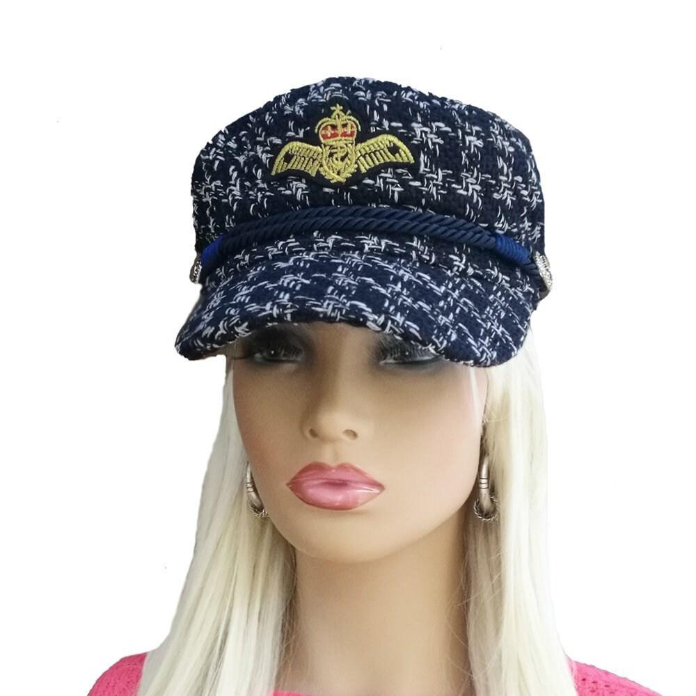 Blue visor cap women Newsboy cap women Newsboy womens hat  95a288ee0ef