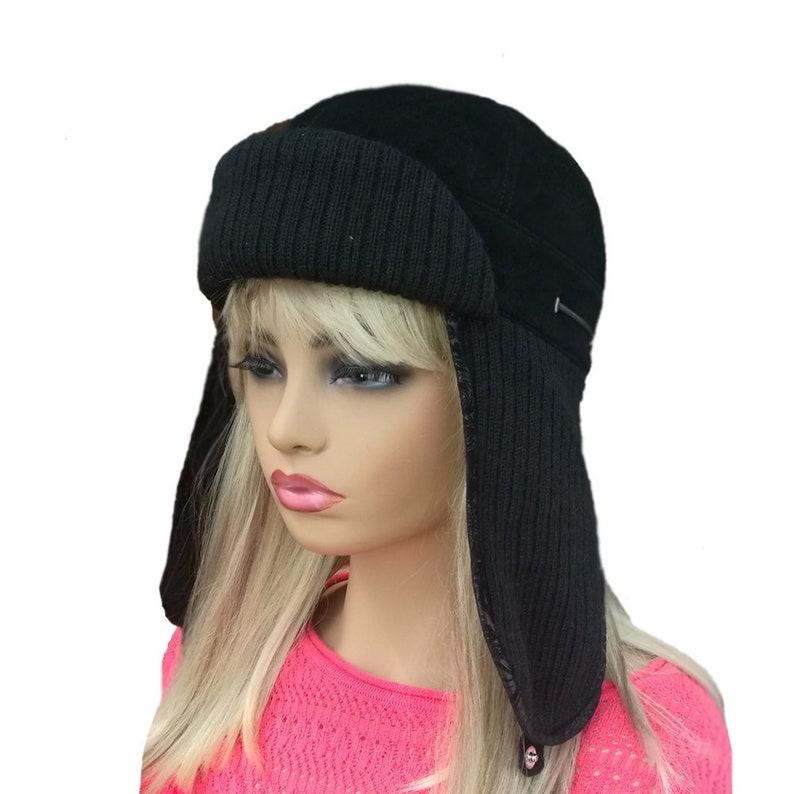 6ed582f98e0 Winter hat women Hat with ear flaps Bomber Aviator Hat