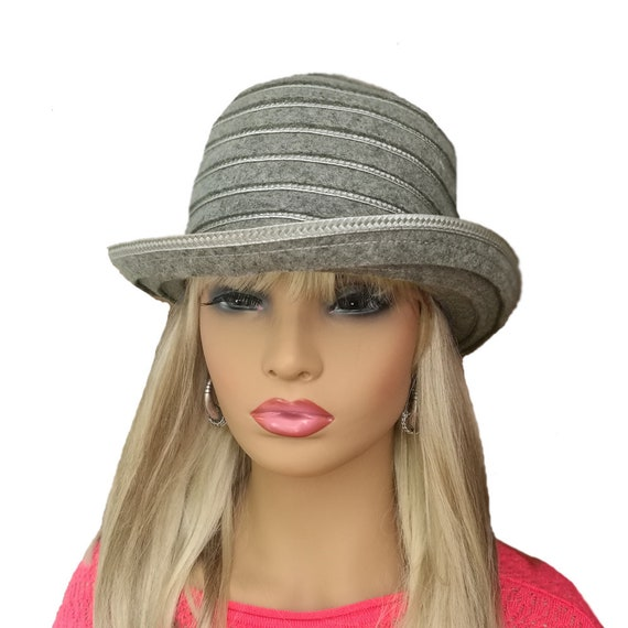 Brimmed felted hat Women s brimmed hat Womens wool hat  93ff4aadc3e