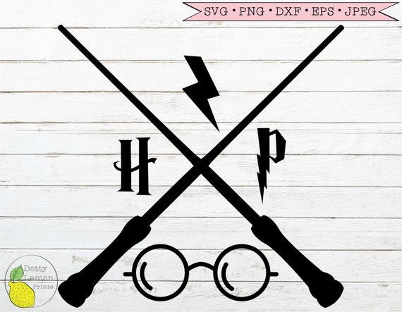 Harry Potter Svg Hogwarts Crossed Wands Svg Harry Potter Etsy