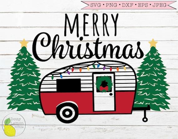 Christmas Sublimation Graphic Christmas svg Christmas Camper SVG Merry Christmas Camper SVG Christmas Tree SVG Red Christmas Truck svg