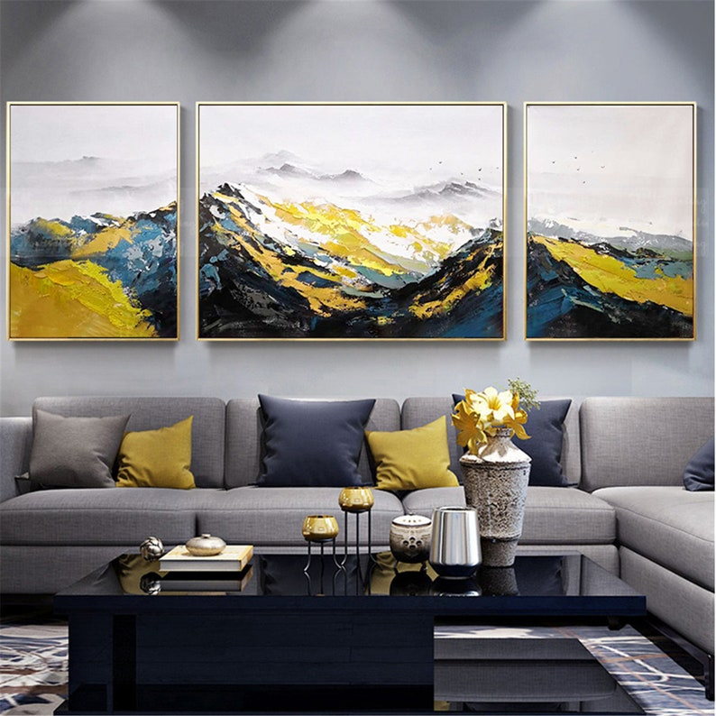 3 pieces abstract oil painting on canvas wall art pictures for image 0