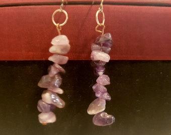 Gemstone and Copper dangle Earrings Assorted Fishhook