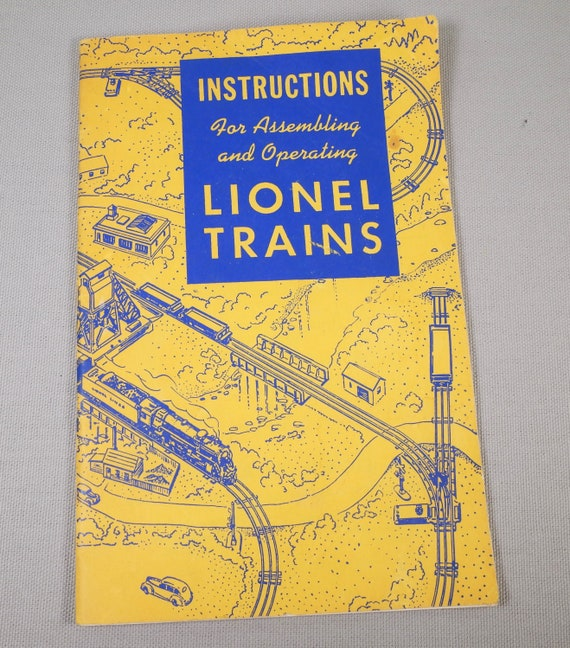 Vintage Lionel Trains livret d'Instructions d'exploitation - 1948 - Original et complet