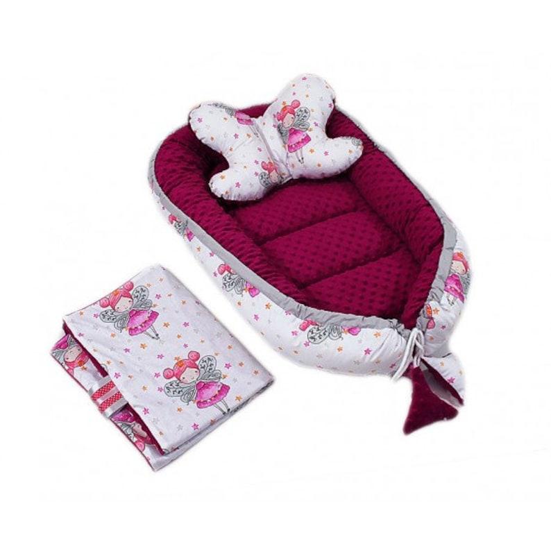 Newborn Baby Nest Cocoon Minky Nest Cushion Breathable