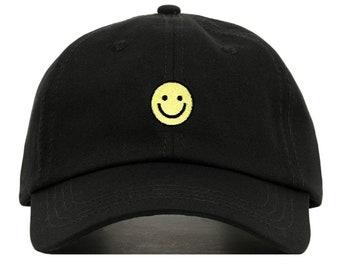 Smiley Emoji Embroidered Baseball Cap 1ecc1f8e2bd0