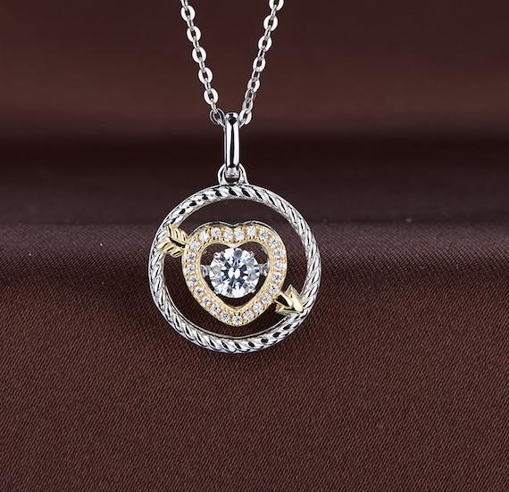 294a6b1ad8de3 Genuine Swarovski Zirconia 925 Sterling Silver Dancing Stone Cupid Pendant
