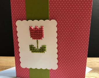 Handmade Tulip Card